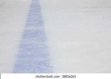 Hockey Rink Blue Line