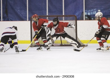 Hockey shot on goal