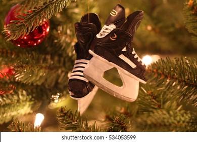 Hockey skates Christmas ornament
