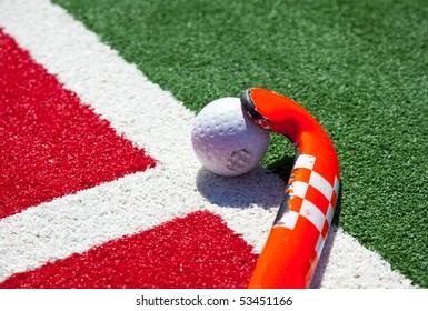 hockey stick on the field