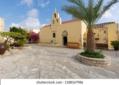 Hodegetria monastery on the island of Crete, Greece
