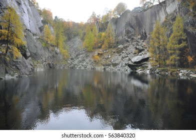 Hodge Close, a disused slate quarry now explored by scuba divers in the Lake districts, Cumbria, Northern England, United Kingdom