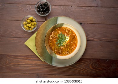 hodgepodge - traditional Russian soup