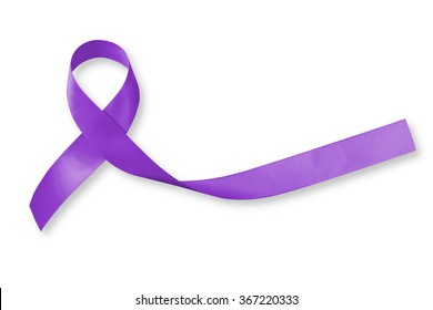 Hodgkin's lymphoma, world lupus day, Leiomyosarcoma (tissue sarcoma) and testicular cancer awareness violet purple ribbon symbolic bow color on white background (isolated with clipping path