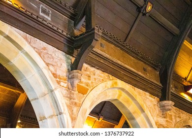 Hodnet,Shropshire,England – 04/20/19 : St Luke's church Hodnet