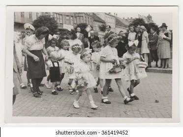 HODONIN, THE CZECHOSLOVAK REPUBLIC, CIRCA 1943: Religious (catholic) celebration, circa 1943.