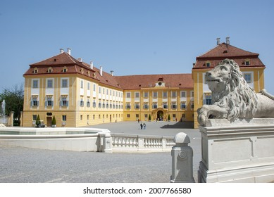 HOF, AUSTRIA - May 19, 2013: Exterior view of famous Schloss Hof Palace in Lower Austria