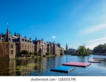 Hofvijver and Binnenhof, The Hague, South Holland, The Netherlands