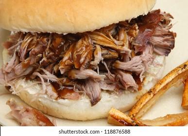 Hog roast roll with crackling