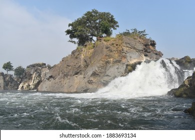 Hogenakkal Falls - Waterfall is in South India on the Kaveri river in the Dharmapuri district of the Indian state of Tamil Nadu