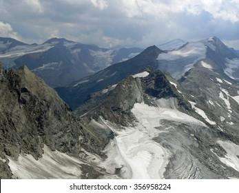 Hohe Tauern, National park in Austria. View from Kitzsteinhorn - 3029 m. In summertime.
