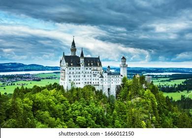 Hohenschwangau Castle, southwest Bavaria, Germany.