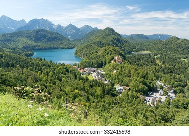 Hohenschwangau, Germany, with lake