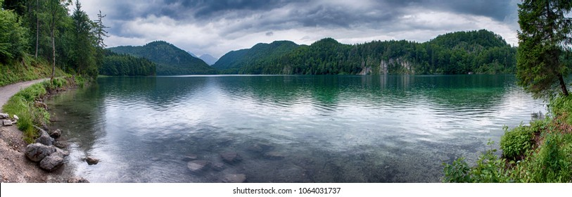 Hohenschwangau lake panorama
