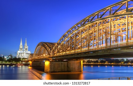 The Hohenzollern Bridge is a bridge crossing the river Rhine in the German city of Cologne