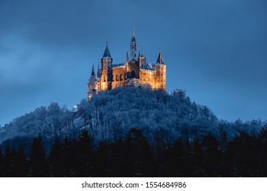 Hohenzollern castle in the winter, Germany
