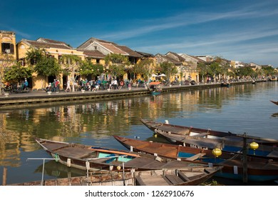 Hoi An, Quang Nam, Vietnam - 12/5/2018: Old Town Hội An, the city's historic district, is recognized as an exceptionally well-preserved example of a Southeast Asian trading port.