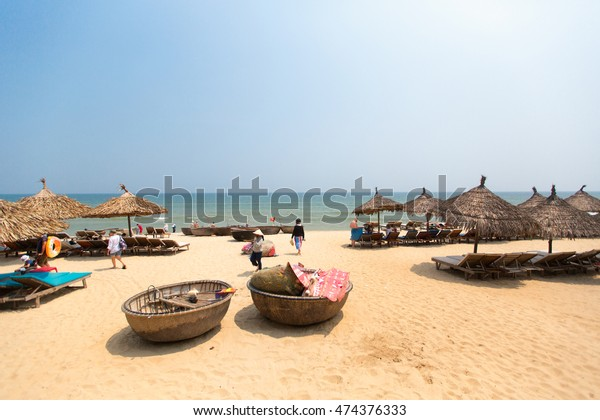 HOI AN, VIETNAM -APRIL 16: Cua Dai Beach in Hoi An, Vietnam on April 16, 2014 in Hoian, Vietnam.