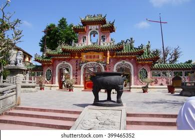 HOI AN, VIETNAM - FEB 3, 2015 - Detail of  Fukian Assembly Hall, Hoi An, Vietnam