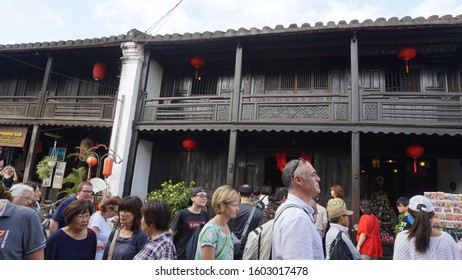 Hoi An, Vietnam: January 1st, 2020: Walking in Hoi An on a sunny day.