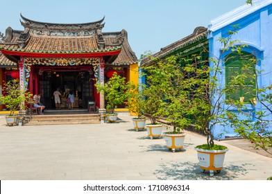 Hoi An, Vietnam - March 20, 2019: Quang Trieu Assembly Hall, Hoi An, Vietnam