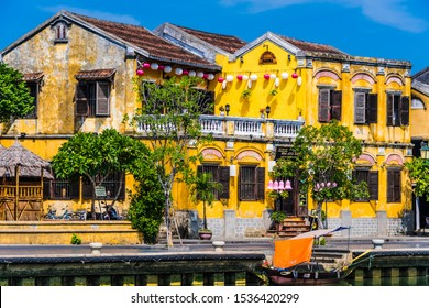 HOI AN, VIETNAM - OCT 5, 2019: Architecture of Hoi An in Quang Nam Province, Vietnam