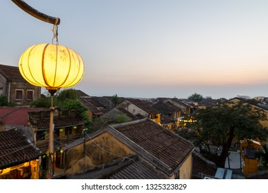 Hoi An Ancient town during night with lantern light Vietnam.