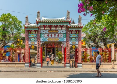 Hoi An / Vietnam - March 06, 2019: Quang Trieu (Cantonese) Assembly Hall. It was built in 1885 by Chinese overseas who came from Guangdong/ Cantonese (China).