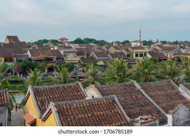 Hoian Ancient town houses with colourful buildings UNESCO heritage site. Vietnam  - Shutterstock ID 1706785189