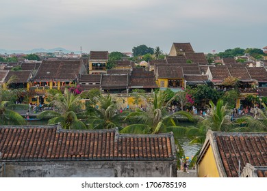 Hoian Ancient town houses with colourful buildings UNESCO heritage site. Vietnam  - Shutterstock ID 1706785198