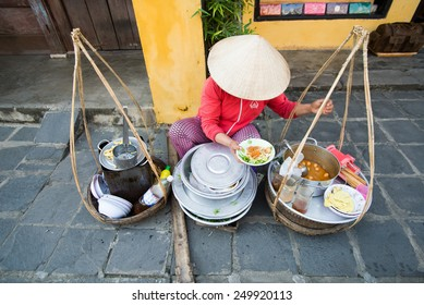 HOIAN, VIETNAM, JANUARY 23: Street vendor on January 23, 2015 in Hoian, Vietnam. Hoian is recognized as a World Heritage Site by UNESCO.