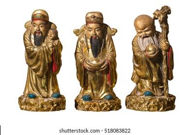 HOK LOK SIEW or FU LU SHOU three gods of chinese people.