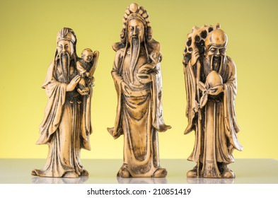 Hok Lok Siew, Image of three gods of China that mean to the wealthy life.