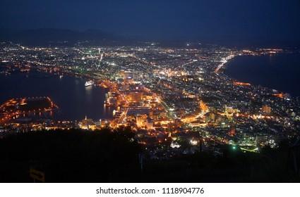 Hokaido Hakodate The Night View from Mt. Hakodate