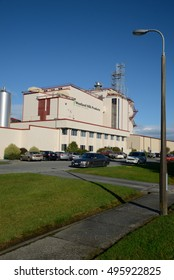 HOKITIKA, NEW ZEALAND, 27 JUNE, 2016: The Westland Milk Products factory employs hundreds of people in Hokitika, New Zealand.