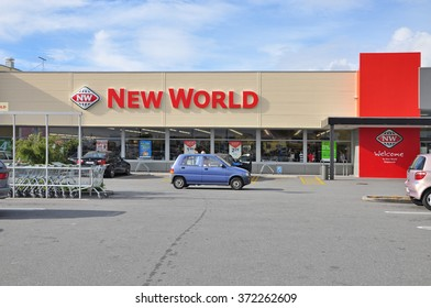 HOKITIKA NEW ZEALAND - APRIL 12, 2010 :  New World is a New Zealand full-service supermarket chain. Each store is independently owned, operated.