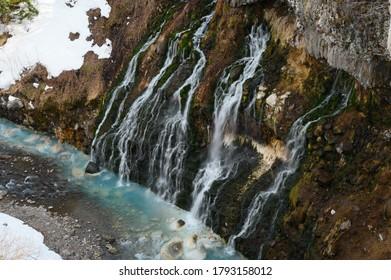 北海道美瑛白鬚滝