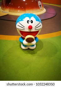 Hokkaido, Japan - May 11, 2017 : Doraemon model in Doraemon Wakuwaku Sky Park, New Chitose Airport, Hokkaido, Japan