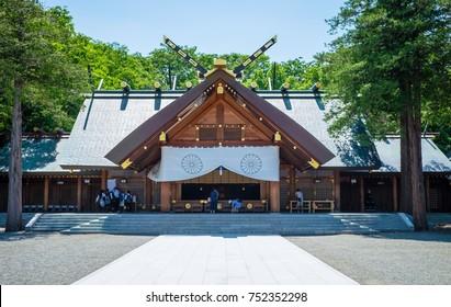 Hokkaido Jingu shrine ,Japanese people come to respect in buddhism shinto temple