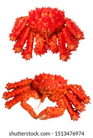 Hokkaido Taraba Crab on white, Red king crab isolated in white background.(With clipping path)