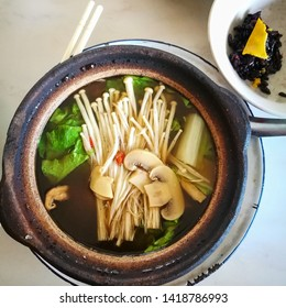 Hokkien bak kut teh is a pork rib dish cooked in broth. Meaty pork ribs are simmered in a complex broth of herbs and spices.