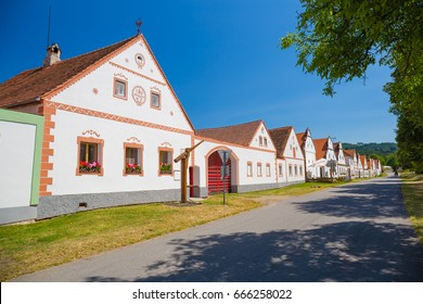 Holasovice, rustic / rural baroque village, Unesco heritage, South Bohemia, Czech Republic