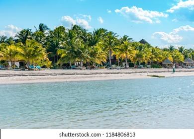 Holbox, Mexico - May 16 2018: Isla Holbox