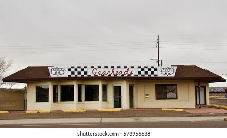 Holbrook Arizona USA, January 14 2017: The Route 66 Gearheads Car Club is a group devoted to the love of Classic Cars, and driving them on Route 66. Headquarters is on route 66 Holbrook Arizona.