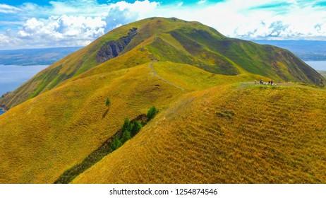 Holbung hill peak, Samosir Island, Toba lake Sumatera Indonesia
