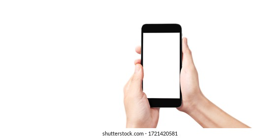 Hold mobile phones, smartphone in hand devices and touch screen technology