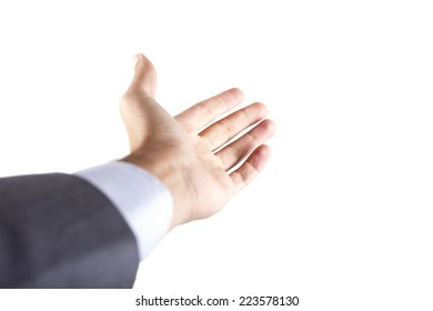 Hold on Businessman hand with clipping path
