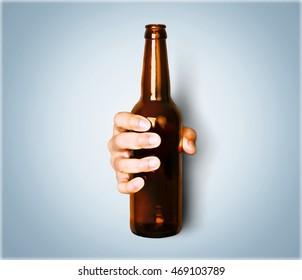 Holding beer bottle