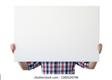Holding canvas mockup. Photo Mockup. The man hold canvas. For canvas design. Frame size 36x24 (91x61cm).