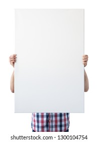 Holding canvas mockup. Photo Mockup. The man hold canvas. For canvas design. Frame size 24x36 (61x91cm).